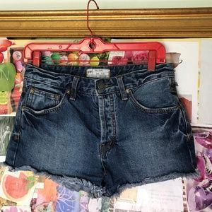 Free People Denim Shorts Size 24